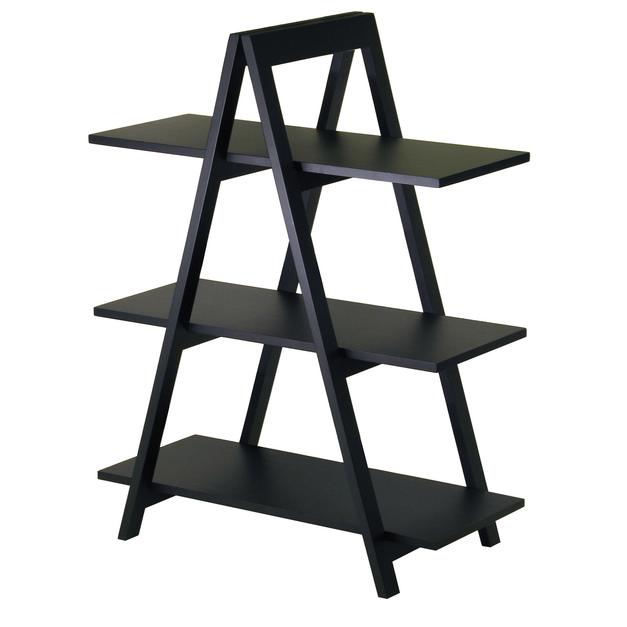 Amazon.com: Winsome Wood 3-Tier A-Frame Shelf, Black: Kitchen & Dining