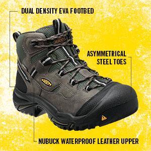 1866c0f5e40 KEEN Utility - Men's Braddock All Leather Mid Waterproof (Steel Toe) Work  Boots