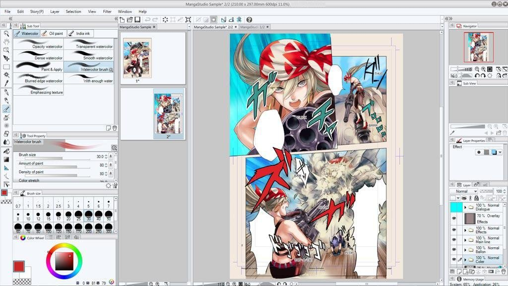 open pdf in clip studio paint