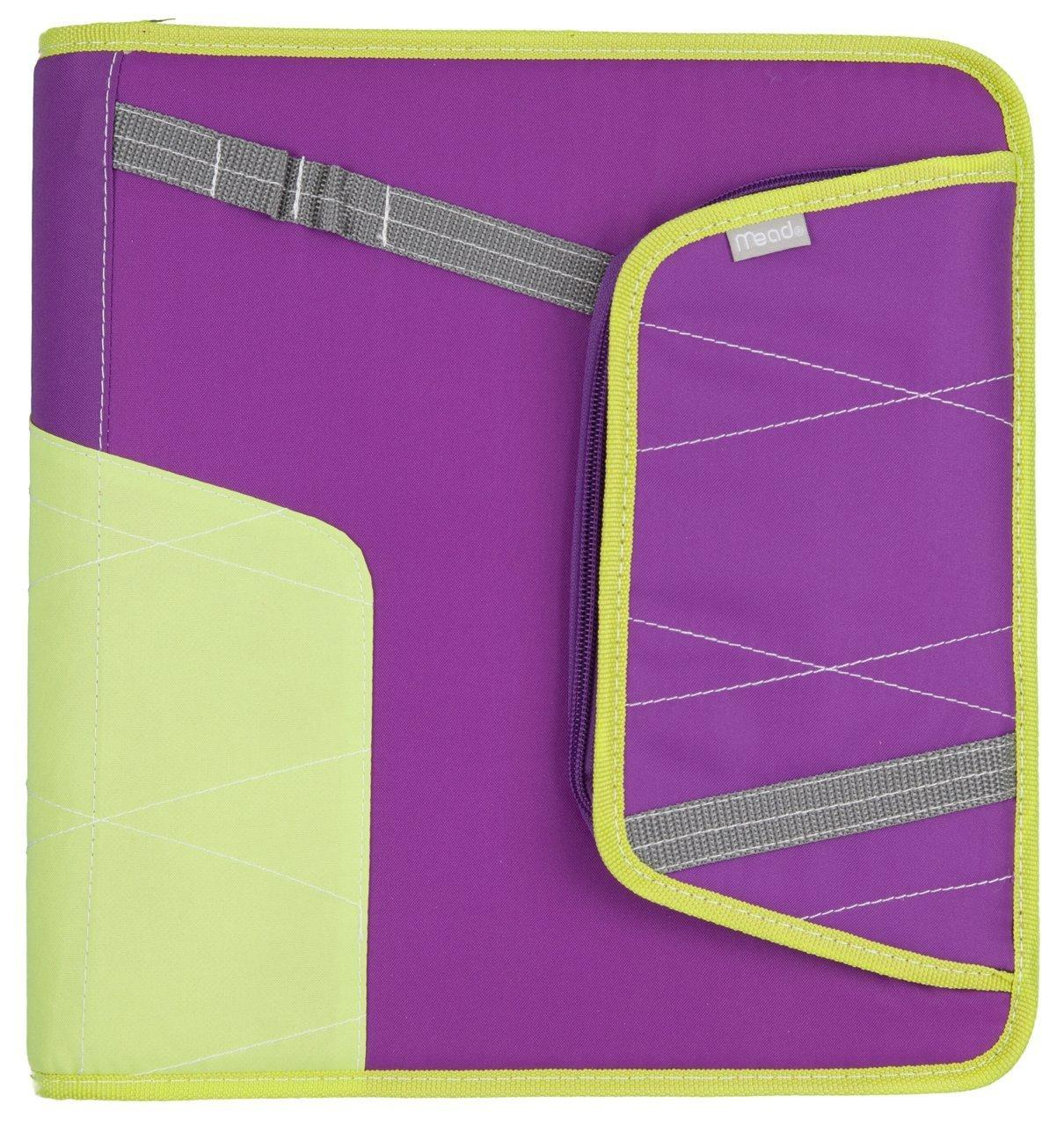 Amazon.com : Mead Zipper 2-Inch Binder With Pocket, Purple