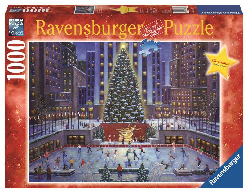 nyc christmas puzzle 1000 piece toys games. Black Bedroom Furniture Sets. Home Design Ideas