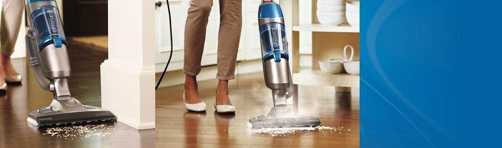 Bissell 1132A Symphony All-in-One Vacuum and Steam Mop (4 Mop Pads Included)