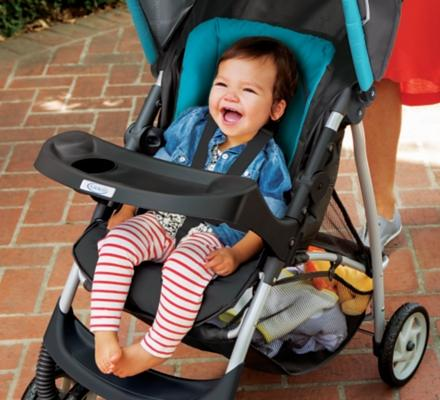 Amazon.com : Graco Click Connect Literider Stroller, Finch : Baby