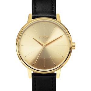 nixon women's watch, nixon kensington, nixon women's, nixon leather watch, black and gold watch