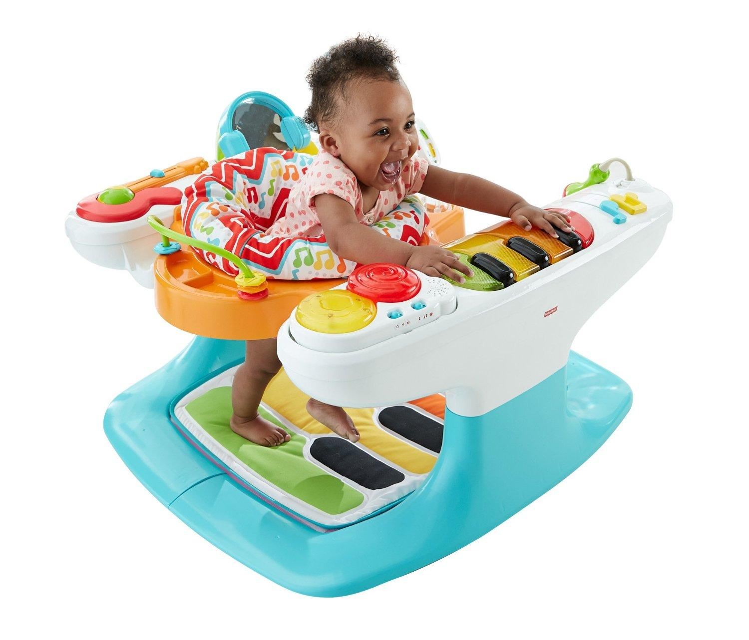 Amazon Com Fisher Price 4 In 1 Step N Play Piano Baby