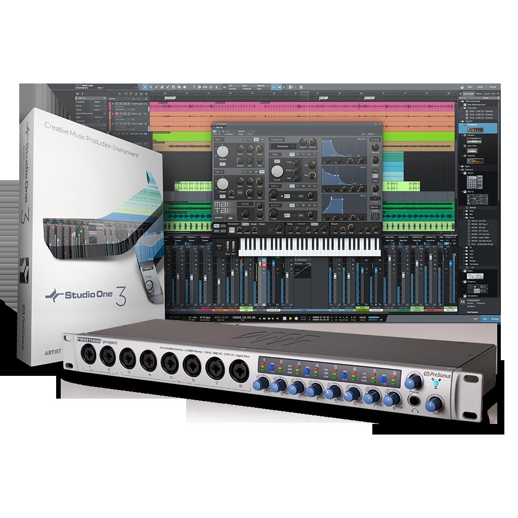 presonus firestudio project recording interface Presonus signal processors, compressors, limiters, mic preamps, de-esser and equalizers.