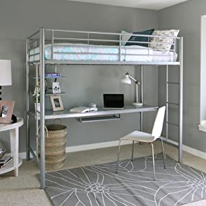 a sleek powder coat finish endows the sturdy steel bed frame with a maximum weight capacity of 250 pounds the bed employs 22 tubular slats to support the - Steel Twin Bed Frame