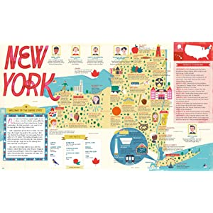 The 50 States map new york