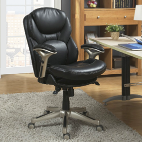 serta wellness by design midback leather office chair