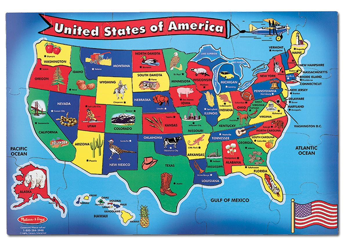 Melissa Doug Usa Map Floor Puzzle 51 Pcs 2