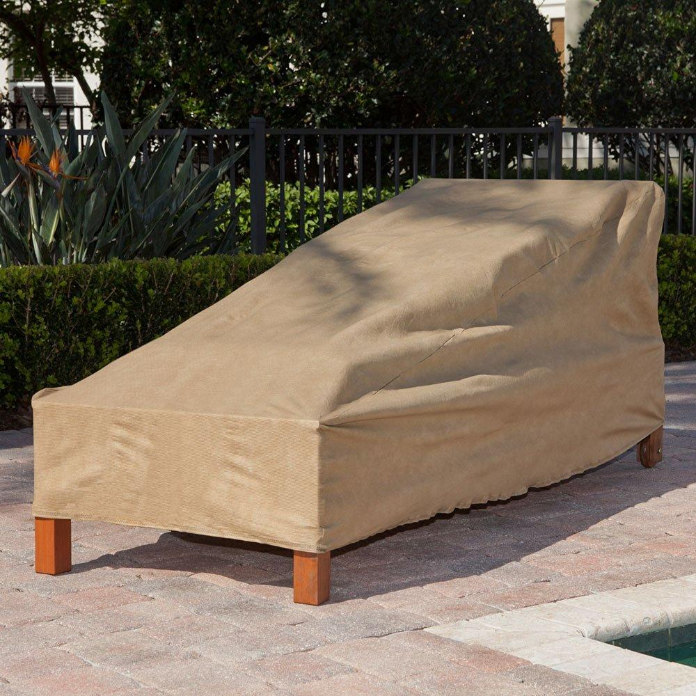 Budge All Seasons Patio Chaise Lounge Cover Medium Tan Pati