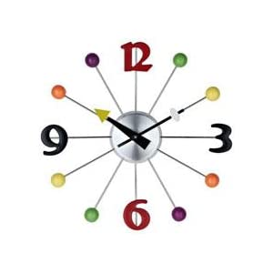 Amazon.com: LexMod Juggler Ball Clock: Kitchen & Dining