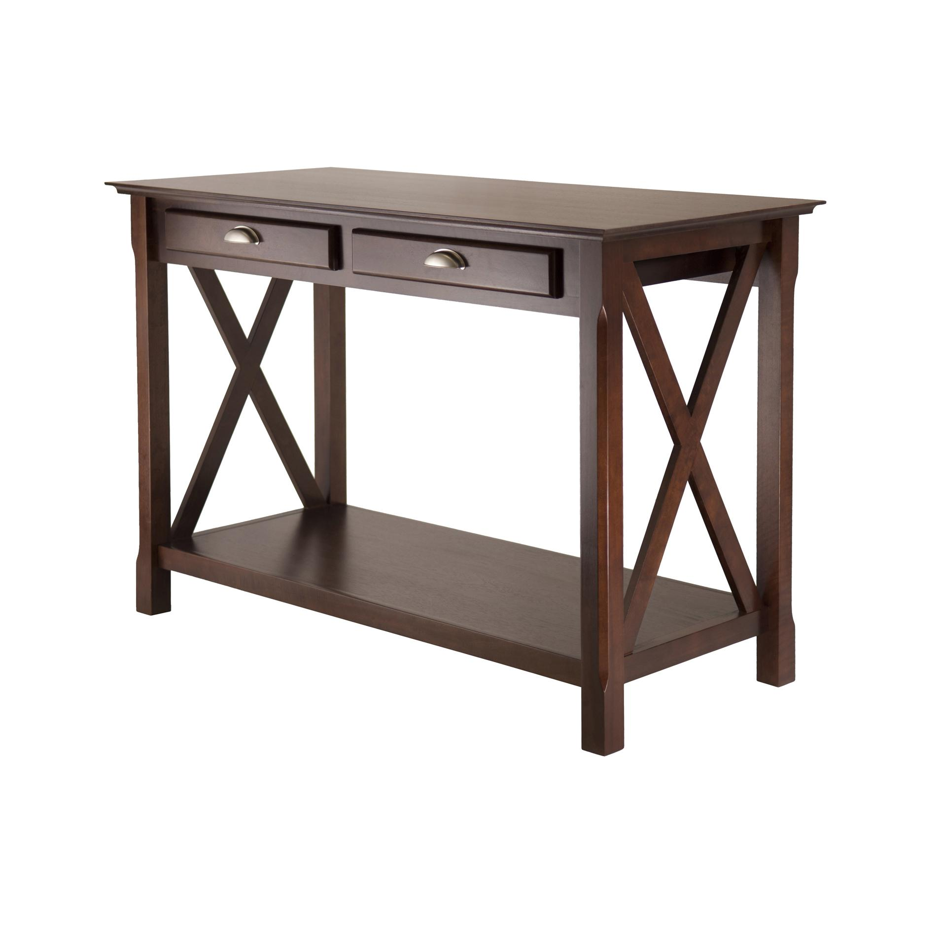 Amazon winsome wood xola console table cappuccino finish view larger geotapseo Choice Image