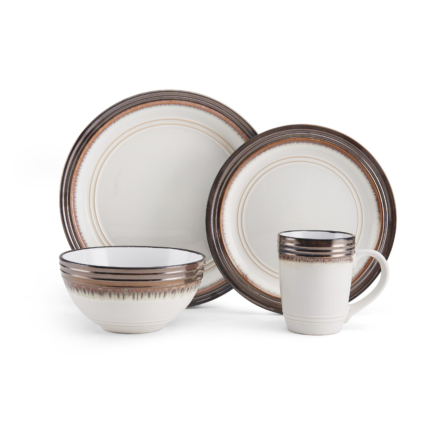 View larger  sc 1 st  Amazon.com & Amazon.com | Gourmet Basics by Mikasa Hayes 16-Piece Dinnerware Set ...