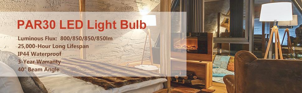 PAR30 LED Light Bulb,LuminWiz 13W 5000K 850lm Crystal White Dimmable Flood Light Bulb,75W Equivalent