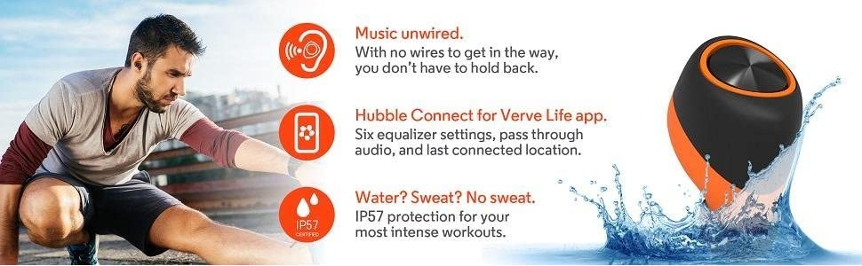 Motorola VerveOnes+ Completely Wireless and Waterproof Smart Earbuds