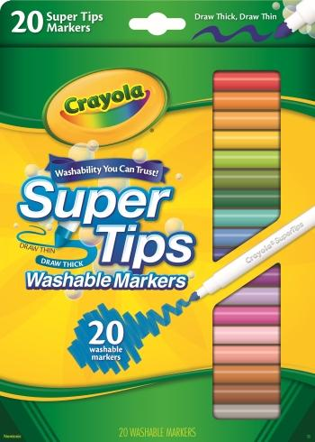 amazon com crayola 20 ct super tips washable markers toys games