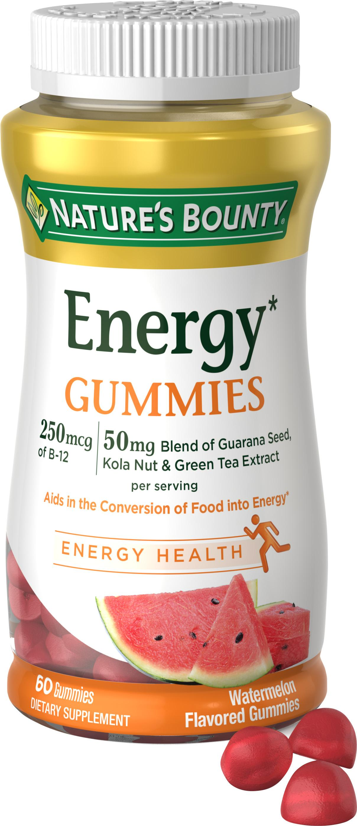 Nature S Bounty Energy Gummies Watermelon  Gummies