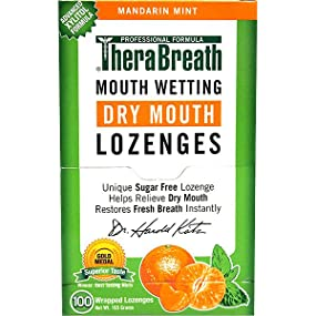 TheraBreath Dry Mouth Lozenges Mandarin Mint Flavor