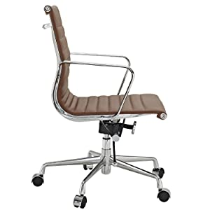 amazon com ribbed mid back office chair in terracotta genuine