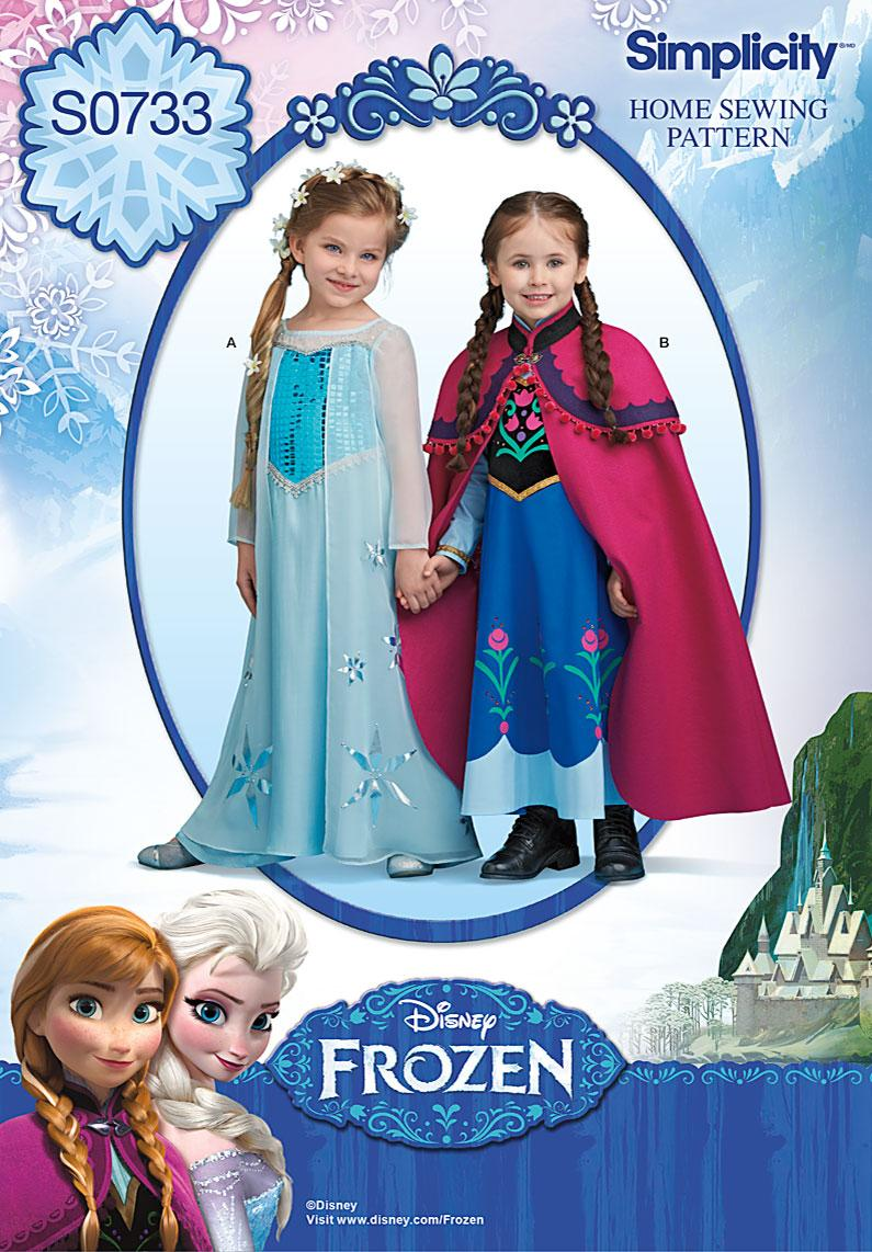 Amazon.com: Simplicity Creative Patterns S0733 Disney's Frozen ...