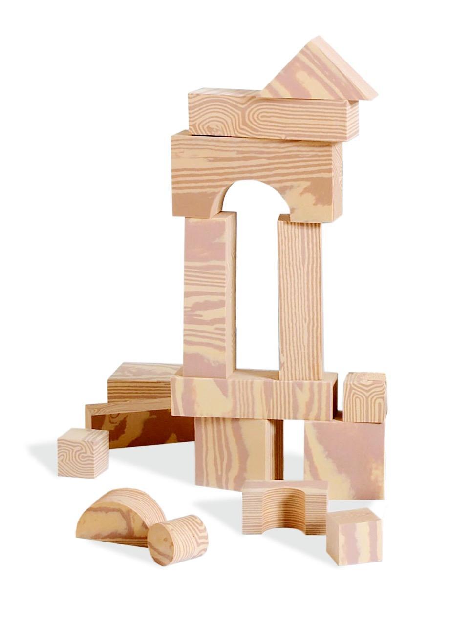 Amazon Com Edushape Wood Like Soft Blocks 80 Piece