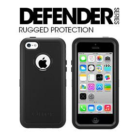 best sneakers e9aa6 cc558 OtterBox Defender Series Case and Holster for iPhone 5c - Retail Packaging  - Black
