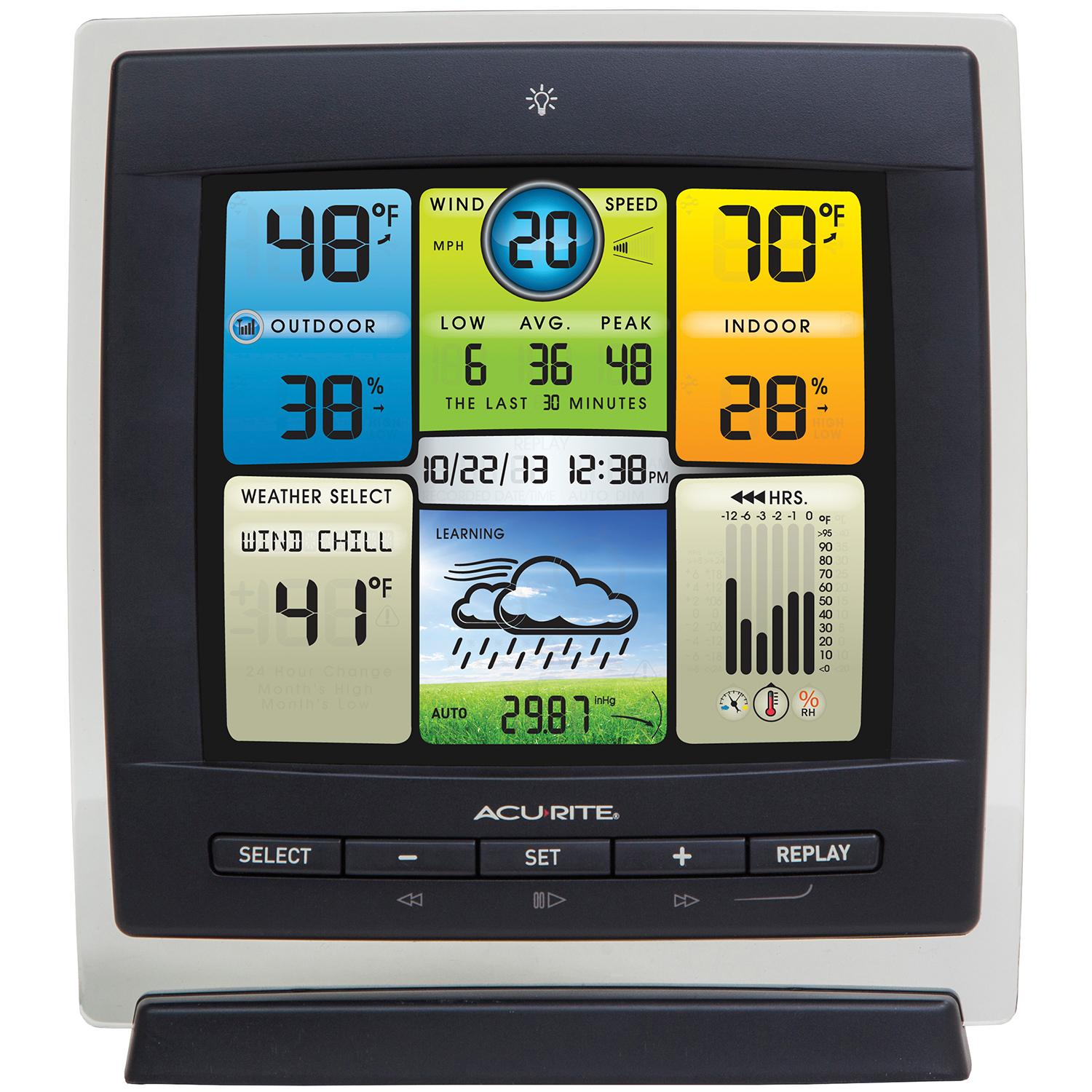 amazon com acurite 00589 pro color weather station with wind speed