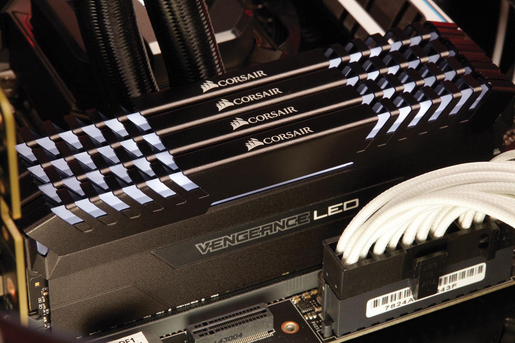 Corsair Vengeance 16GB (2x8GB) DDR4 2666 (PC4-21300) C16 ...
