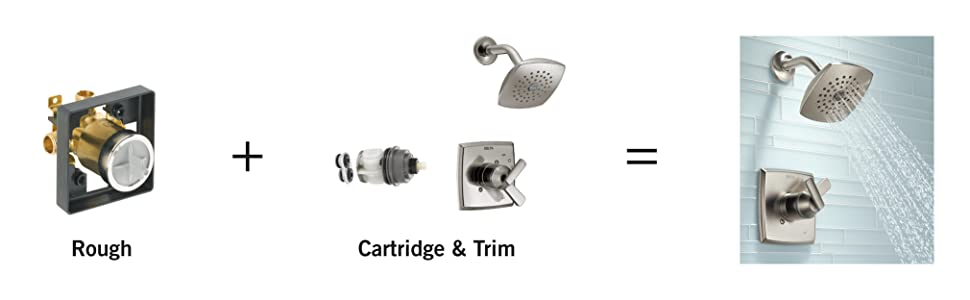 delta multichoice universal tub shower valve body rough in kit r10000 u. Black Bedroom Furniture Sets. Home Design Ideas