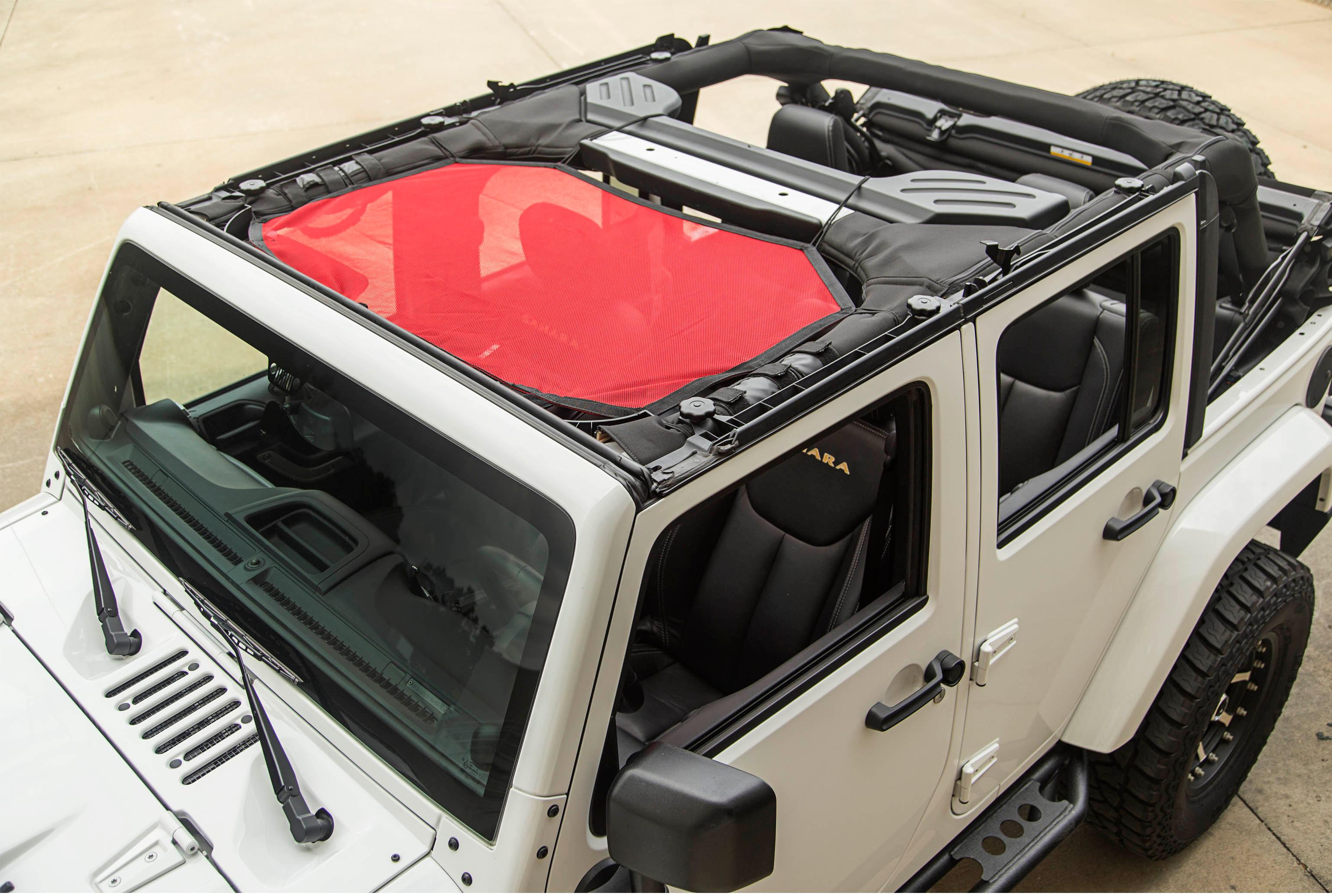 Rugged Ridge 1357904 Black Eclipse Sun Shade For Select Off Road Jeep Wrangler Parts Diagram View Larger