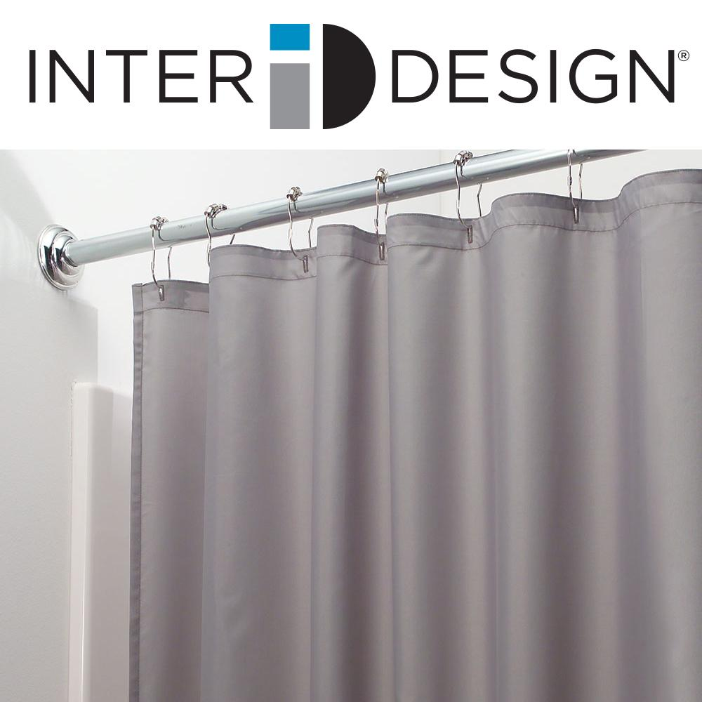 InterDesign 96-Inch Fabric Waterproof Extra Long Shower