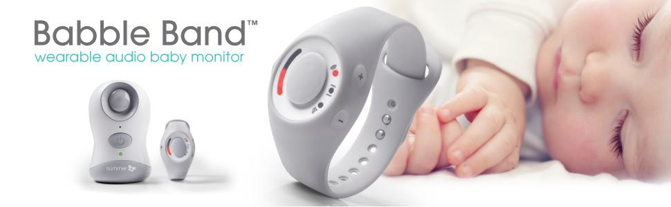 summer infant babble band wearable audio monitor baby. Black Bedroom Furniture Sets. Home Design Ideas