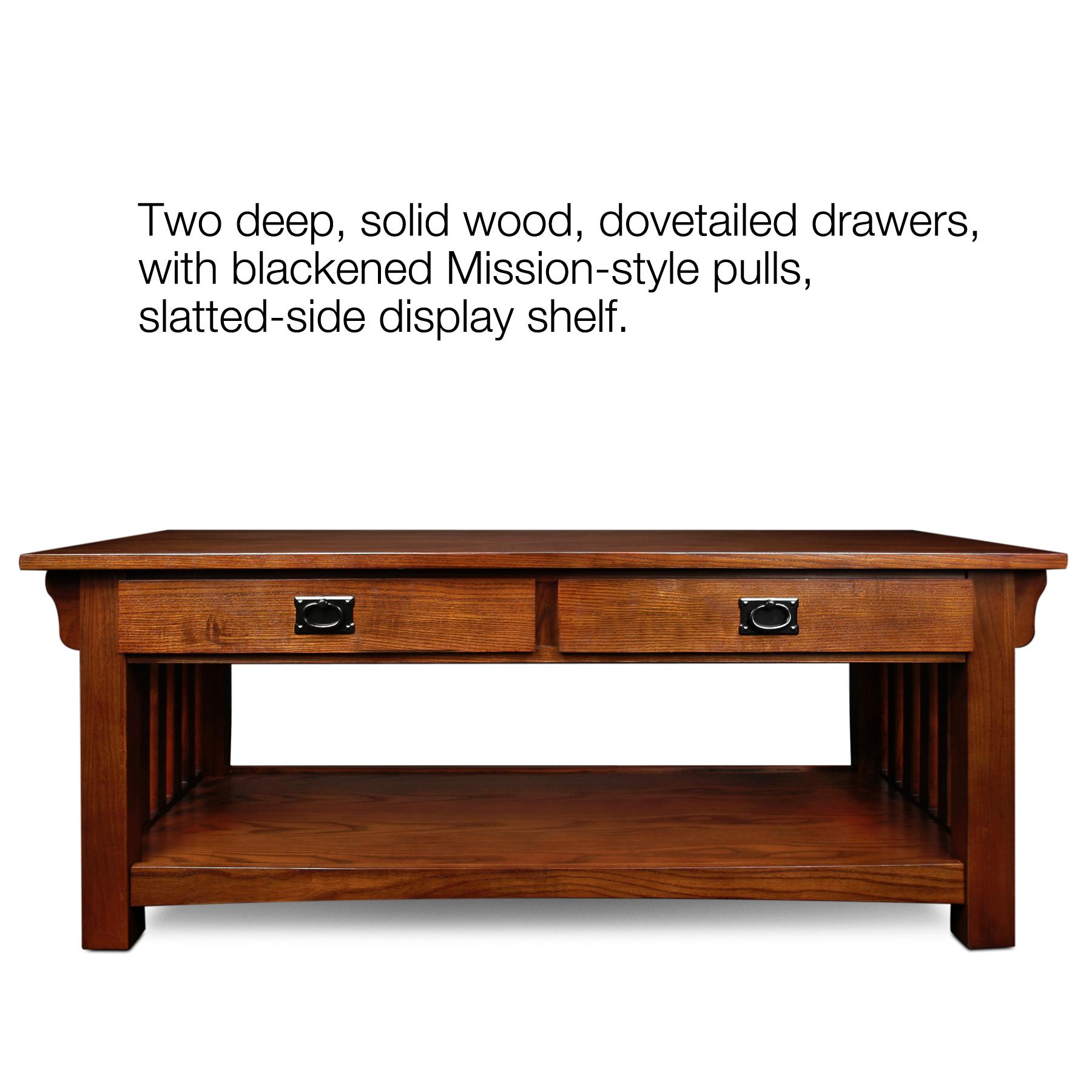 Amazon Leick Furniture Mission 2 Drawer Coffee Table Medium