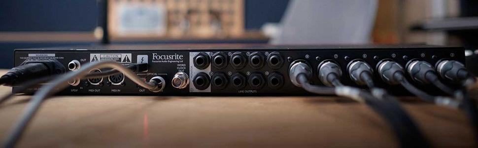 Focusrite Clarett 8Pre USB Audio Soundcard 6