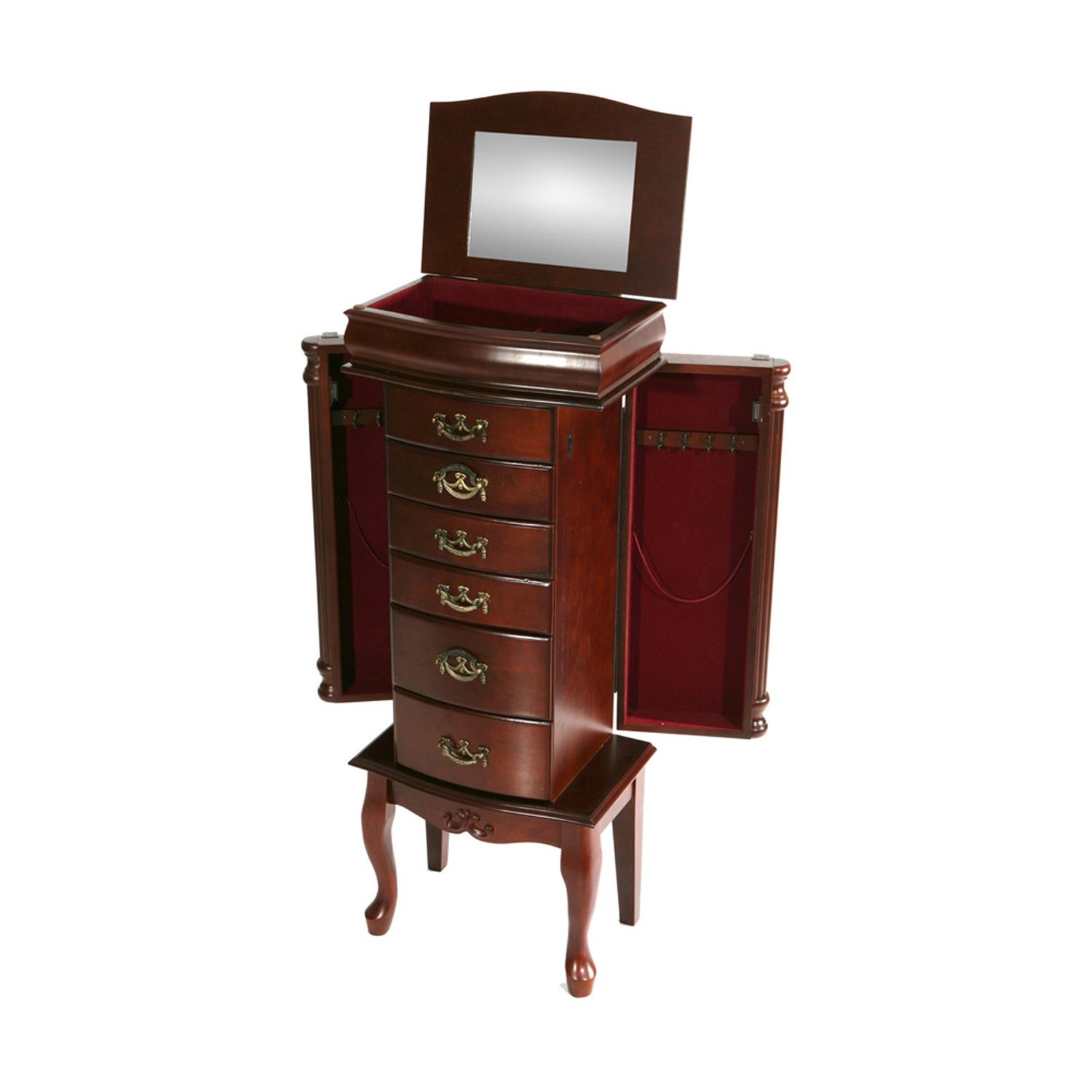 Amazoncom Southern Enterprises Jewelry Armoire Classic Mahogany