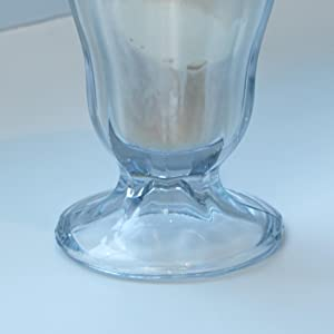 anchor hocking; glass; glassware; serveware; soda glass; stable; heavy base; no tipping