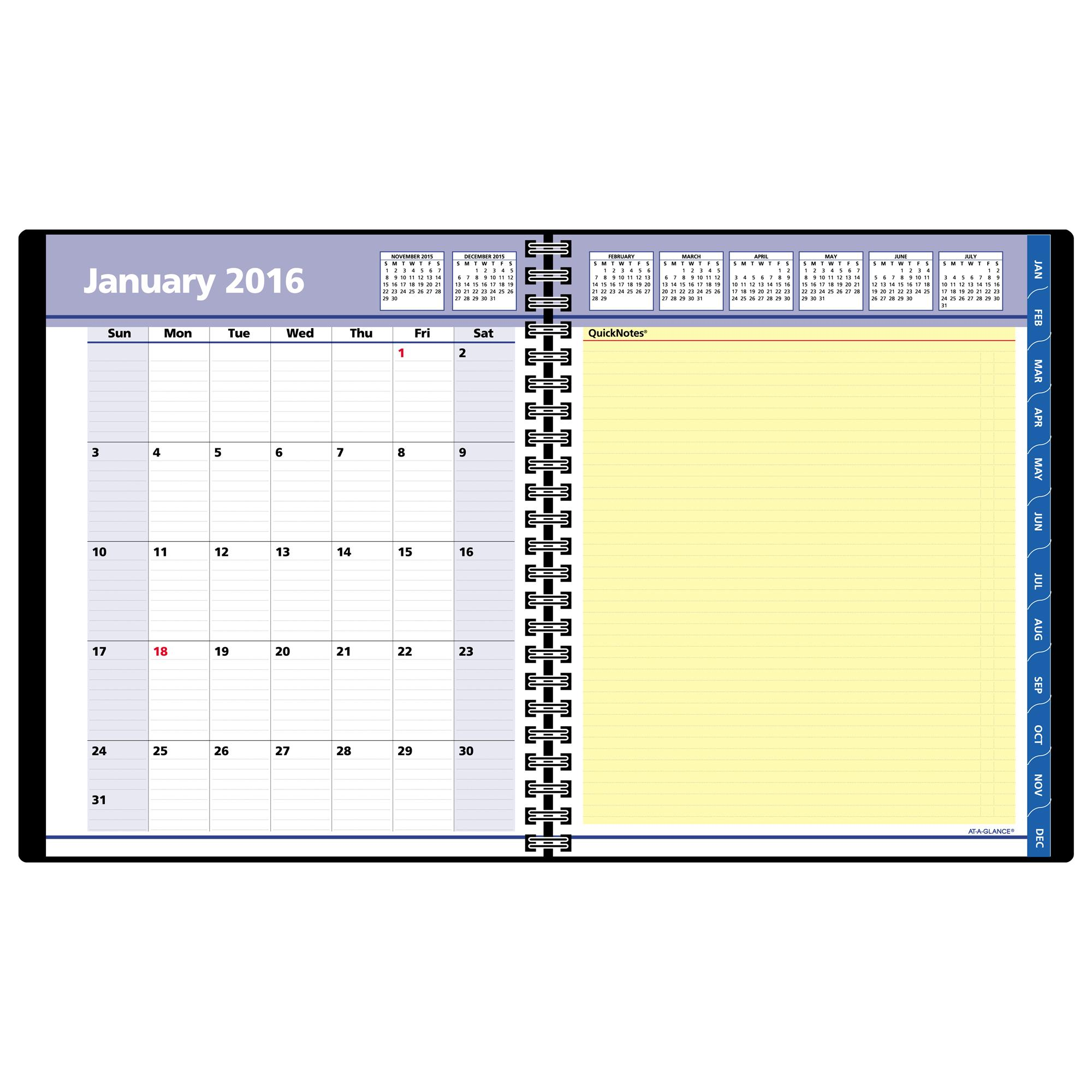 AT A GLANCE, Weekly / Monthly Appointment Book, Planner, Quick Notes