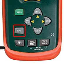 Extech AN100, Thermo-Anemometer, CFM, CMM, averaging feature, average, data hold