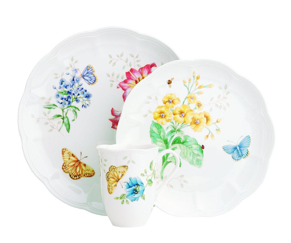 Amazon.com | Lenox Butterfly Meadow 18-Piece Dinnerware