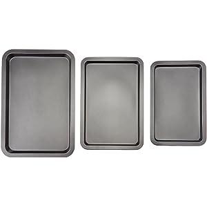 AmazonBasics 3-Piece Baking Sheet Set