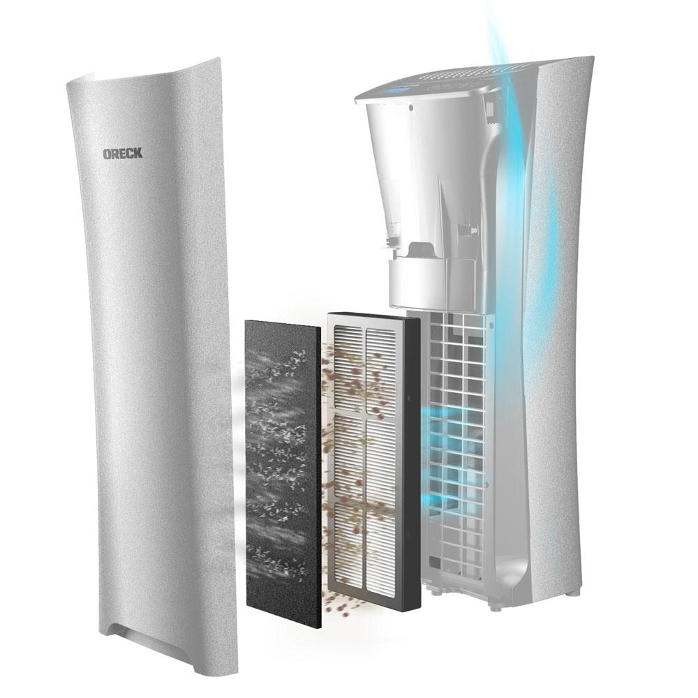 Oreck WK15500B Air Refresh 2-in-1 Hepa Air Purifier & Ultrasonic