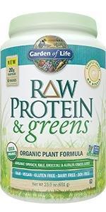 raw protein and greens organic plant formula