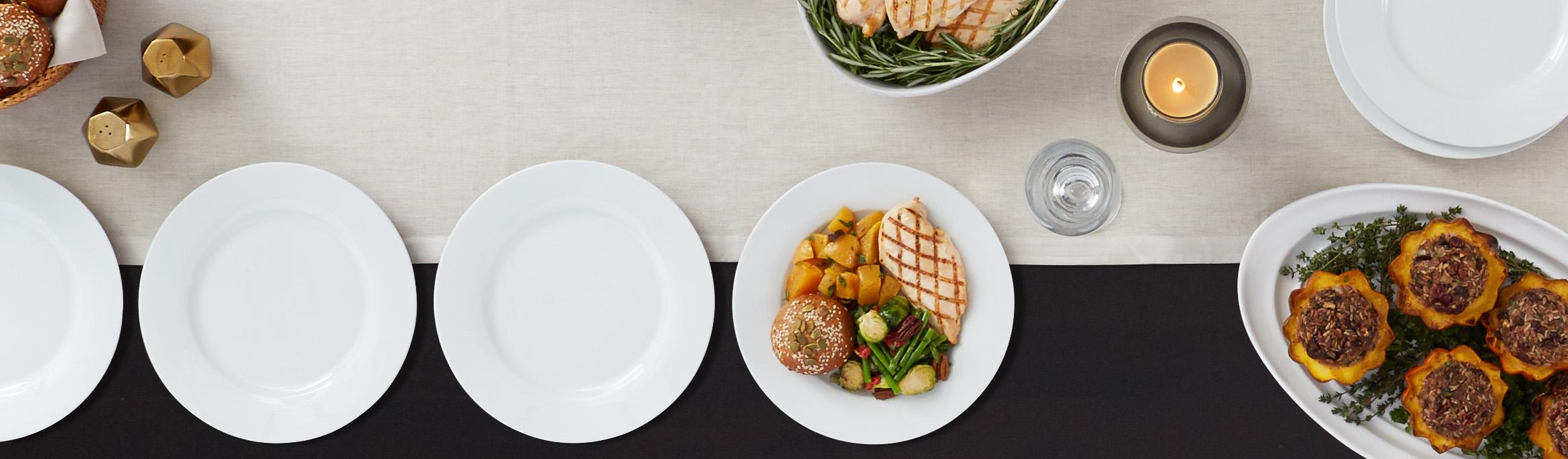 AmazonBasics 6-Piece Dinner Plate Set & Amazon.com | AmazonBasics 6-Piece Dinner Plate Set: Dinner Plates