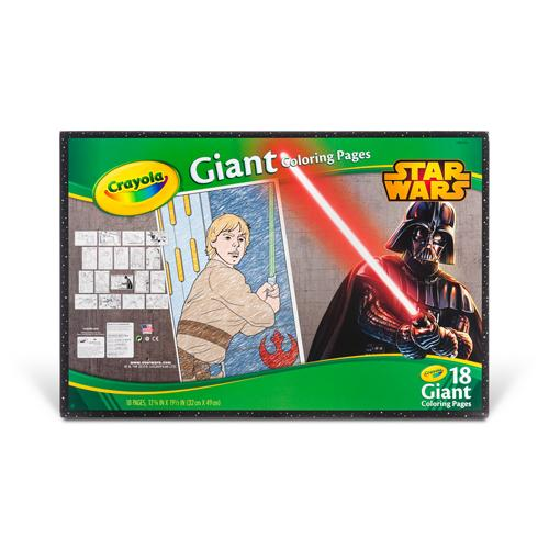 amazon com crayola star wars giant coloring pages toys games