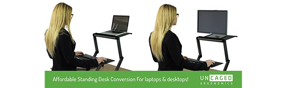 affordable adjustable height and angle stand up desk conversion