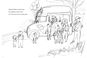 Ask Me, picture book, sketches, Suzy Lee