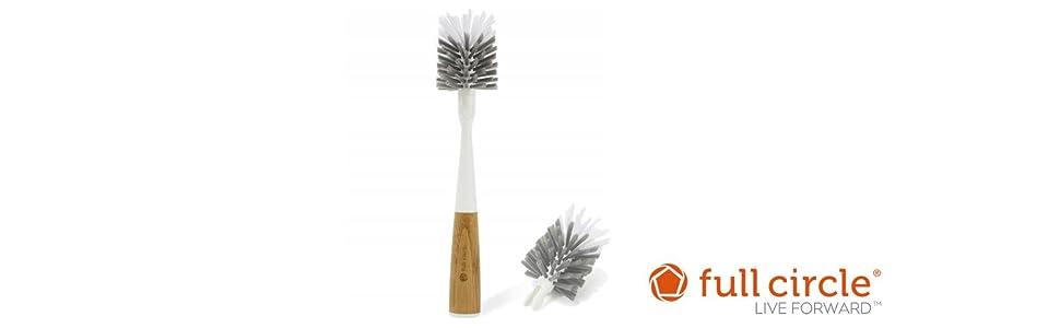 Full Circle, Clean Reach, Bottle Brush, Cleaning Brush, Glass Brush, Brush