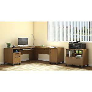 Amazon.com: Achieve L Shaped Desk with Hutch: Kitchen & Dining