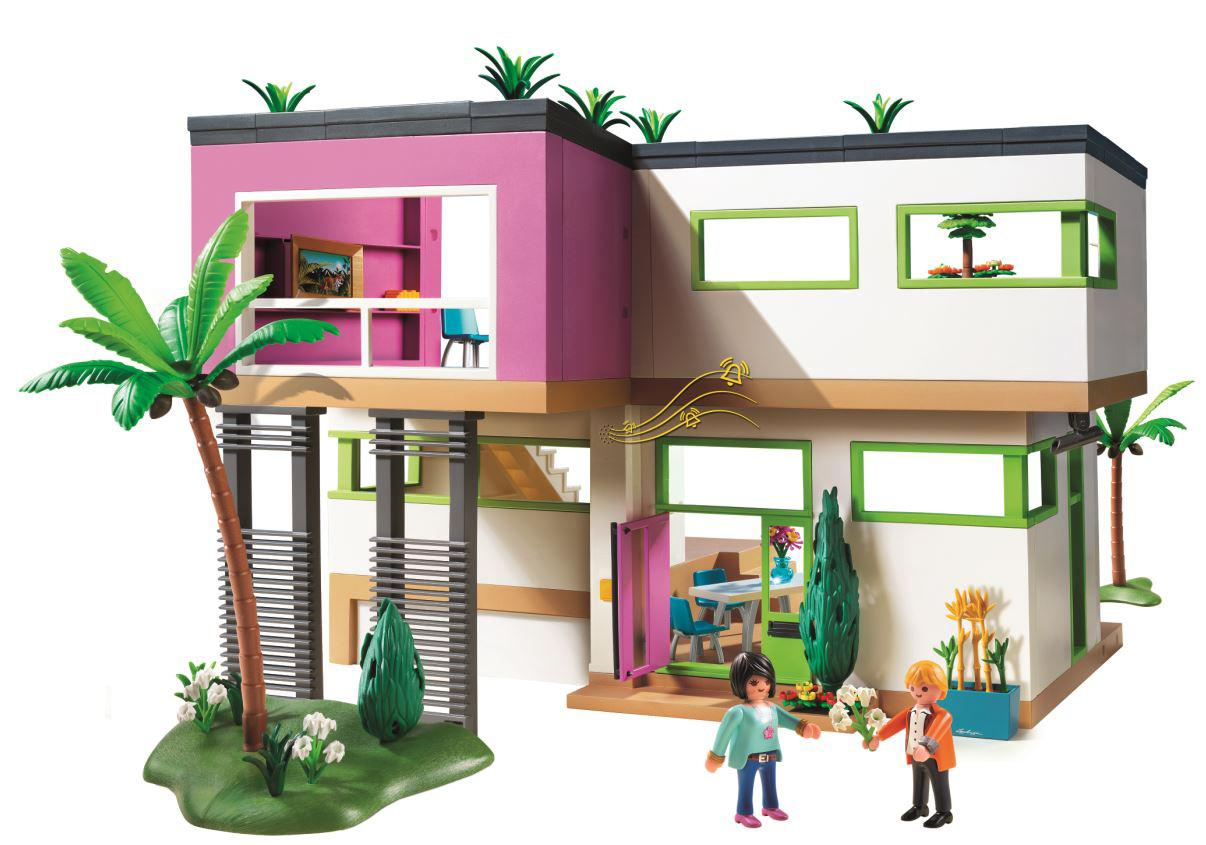 House Design Games To Play Amazon Com Playmobil Modern Luxury Mansion Play Set Toys